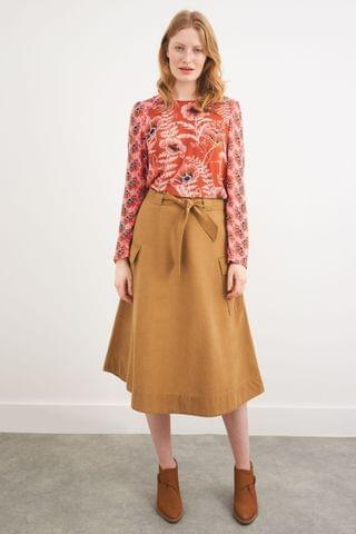 WOMEN White Stuff Brown Ashley Skirt
