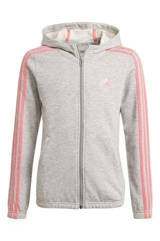 KIDS adidas 3 Stripe Zip Through Hoody