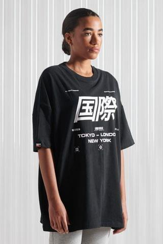 WOMEN Superdry Streetwear 4 Oversized T-Shirt