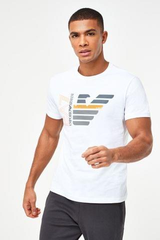 MEN Emporio Armani EA7 White Eagle T-Shirt