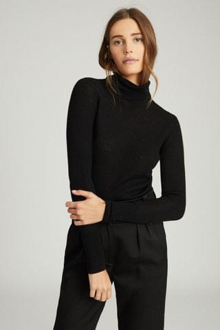 WOMEN Reiss Sophie Knitted Roll Neck Top