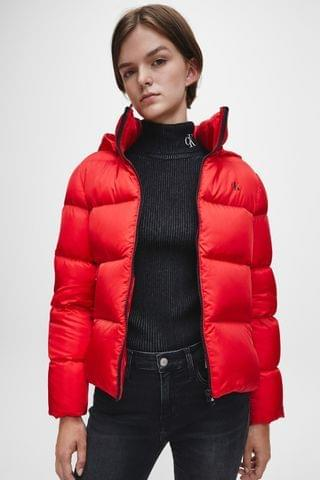 WOMEN Calvin Klein Jeans Shiny Down Quilted Jacket