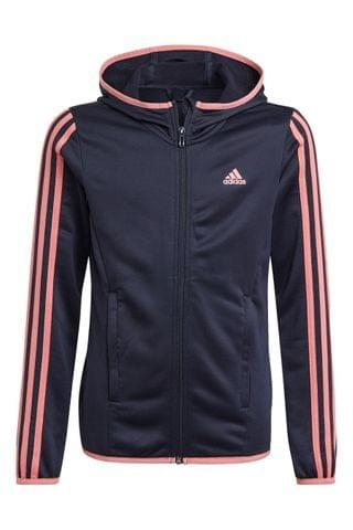 KIDS adidas Performance 3 Stripe Zip Through Hoody