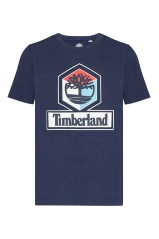 KIDS Timberland Navy Graphic Logo T-Shirt