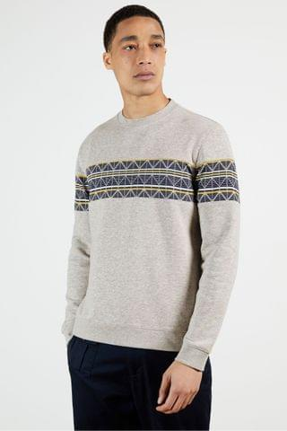 MEN Ted Baker Kinfish Sweatshirt With Printed Chest Panel