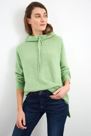 WOMEN White Stuff Green Home From Home Knit Hoody