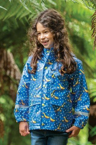 KIDS Frugi Ducks Recycled Waterproof Puddlebuster Coat