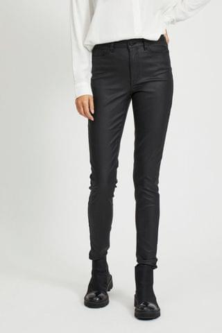 WOMEN OBJECT Sustainable Black Coated Skinny Jeans