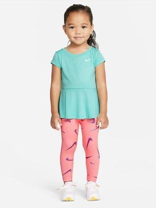 KIDS (12-24M) Swoosh Top and Leggings Set Nike