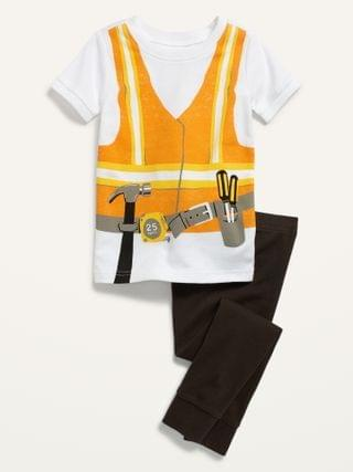KIDS Construction Worker Costume Pajama Set for Toddler & Baby