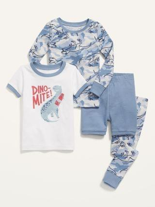 KIDS Graphic 4-Piece Pajama Set for Toddler & Baby