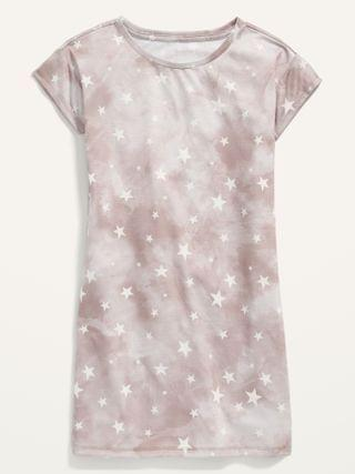 KIDS Printed Short-Sleeve Jersey Nightgown for Girls