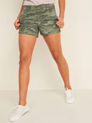 WOMEN Mid-Rise Camo Everyday Shorts for Women -- 3.5-inch inseam