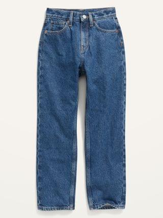 KIDS High-Waisted Slouchy Straight Medium-Wash Jeans for Girls