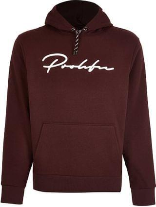 MEN Prolific red slim fit hoodie
