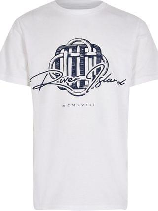KIDS white 'River Island' print t-shirt