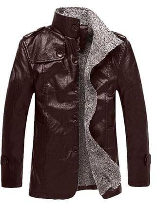 MEN 2017 New Autumn and Winter Men's Casual Pu Leather Jacket