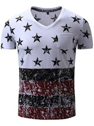 MEN FREDD MARSHALL Pure Cotton Printed T Shirts with Chest Pocket
