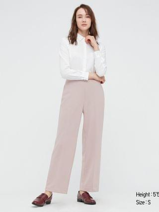 WOMEN stretch double face straight pants