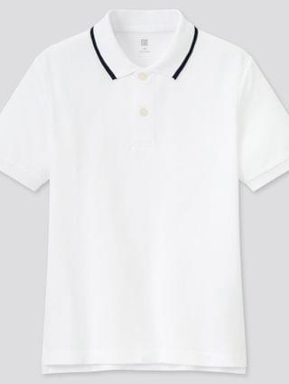 KIDS dry pique short-sleeve polo shirt (online exclusive)