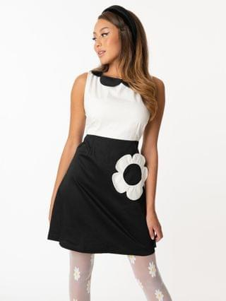 WOMEN Smak Parlour Black & White Flower Model Maven Flare Dress