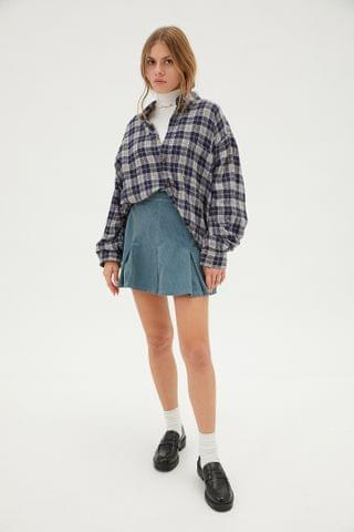 WOMEN UO Cord Kilt Skirt