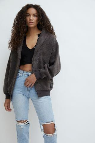 WOMEN UO Bear Oversized Shawl Cardigan