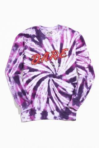 MEN D.A.R.E. Tie-Dye Crew Neck Sweatshirt