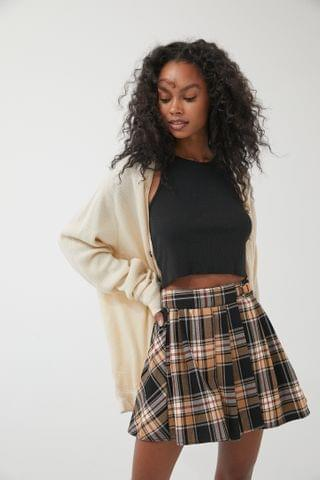 WOMEN UO Marianne Buckle Waist Mini Skirt