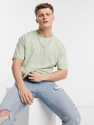 New Look oversized t-shirt in light green