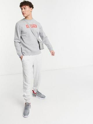 TEST LEVI Levi's Youth relaxed fit box tab logo sweatshirt in gray heather