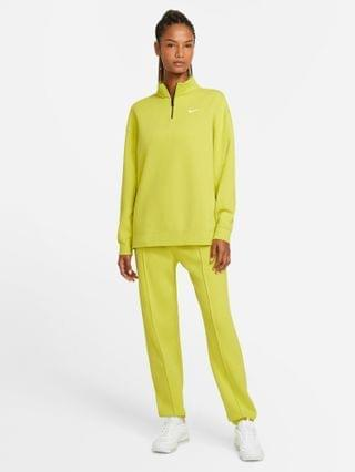 WOMEN Nike Trend Fleece quarter-zip sweatshirt in lime