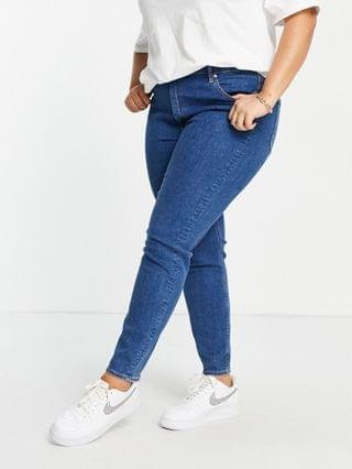 WOMEN Curve Ridley high rise skinny fit jeans in mid wash