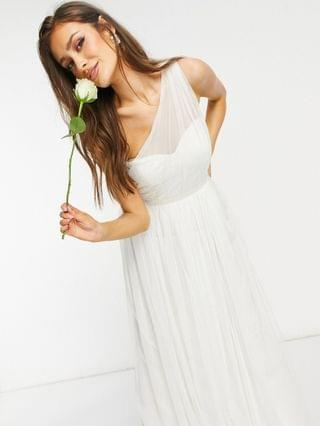WOMEN Anaya With Love Bridesmaid tulle one shoulder maxi dress in white