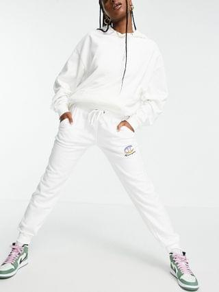 WOMEN Champion sweatpants with logo in white