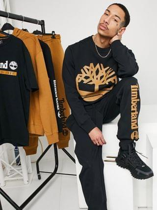 Timberland YC Core tree logo pullover sweatshirt in black