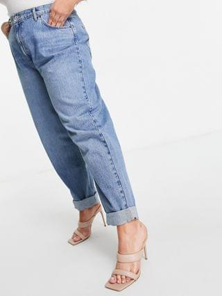 WOMEN Curve high rise 'slouchy' mom jean in midwash