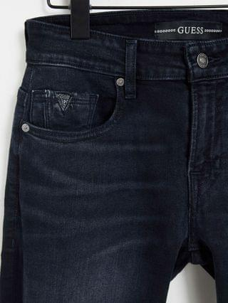 Guess washed skinny jeans in jet indigo blue