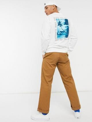 Vans Moonstone Beach long sleeve t-shirt in white