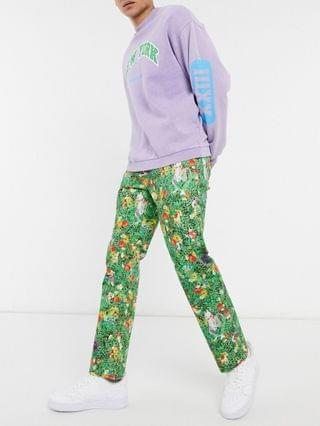 TEST LEVI Levi's x Pokemon 551z authentic straight fit jeans in all over garden print
