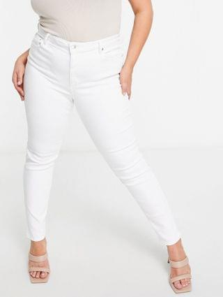 WOMEN Curve high rise ridley 'skinny' jeans in optic white