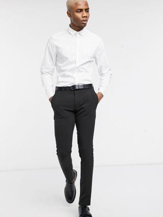 stretch slim fit work shirt in white