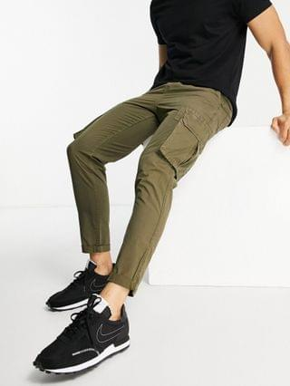 New Look ripstop cargo pants in dark khaki