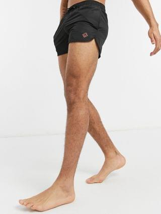 Bershka swim shorts in black