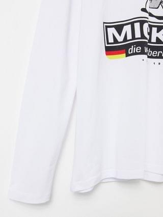 DISNEY long sleeve t-Shirt with Mickey Germany print in white