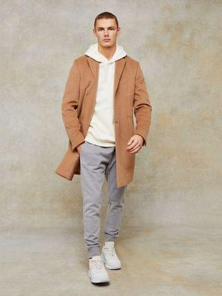 Topman Considered classic fit coat in camel