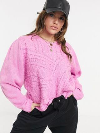 WOMEN Wednesday's Girl Curve relaxed sweater in textured knit