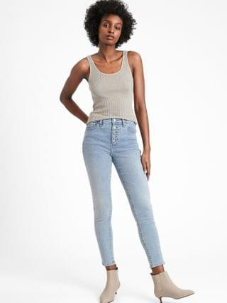 WOMEN High-Rise Skinny Jean with Button Fly