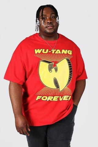 MEN Plus Size Wu-tang Forever License T-shirt