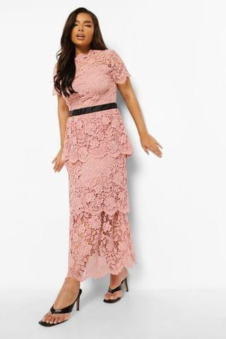 WOMEN Plus Occasion Lace Tiered Midaxi Dress